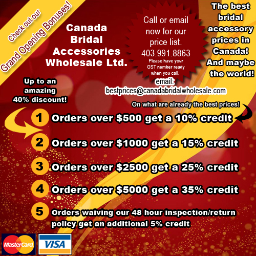 canada bridal accessories wholesale