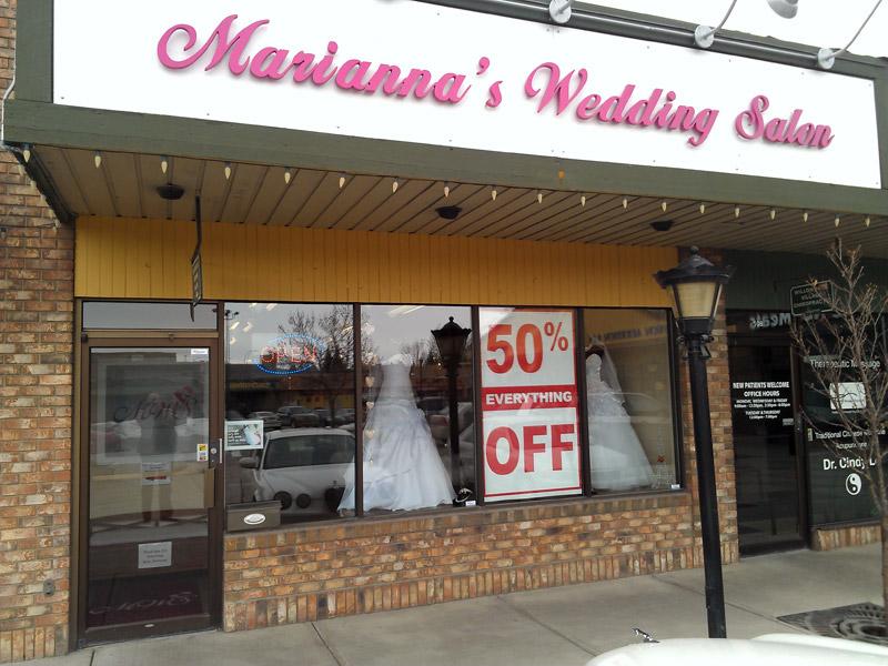 calgary bridal shops sale
