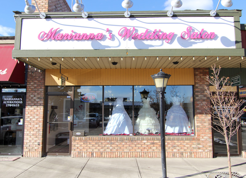 Mariannas Wedding Salon calgary bridal shops The