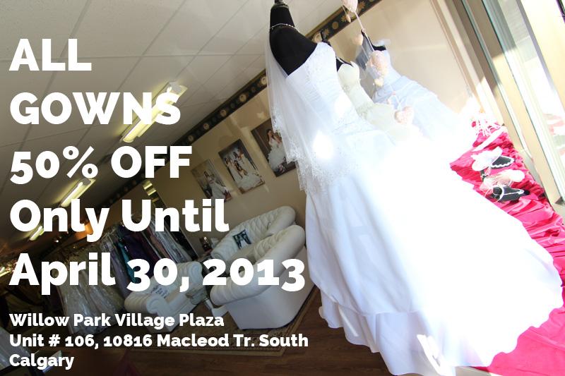 calgary wedding gowns sale