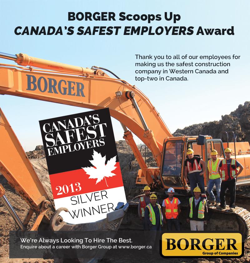 Borger Construction Calgary Safety Award 2013